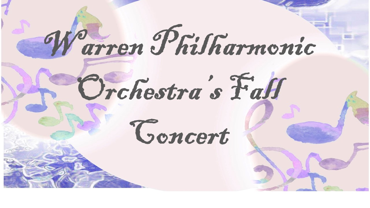 McGuffey's third grade students will be off to see the Warren Philharmonic Orchestra's Fall Concert on Thursday, November 17, 2017.