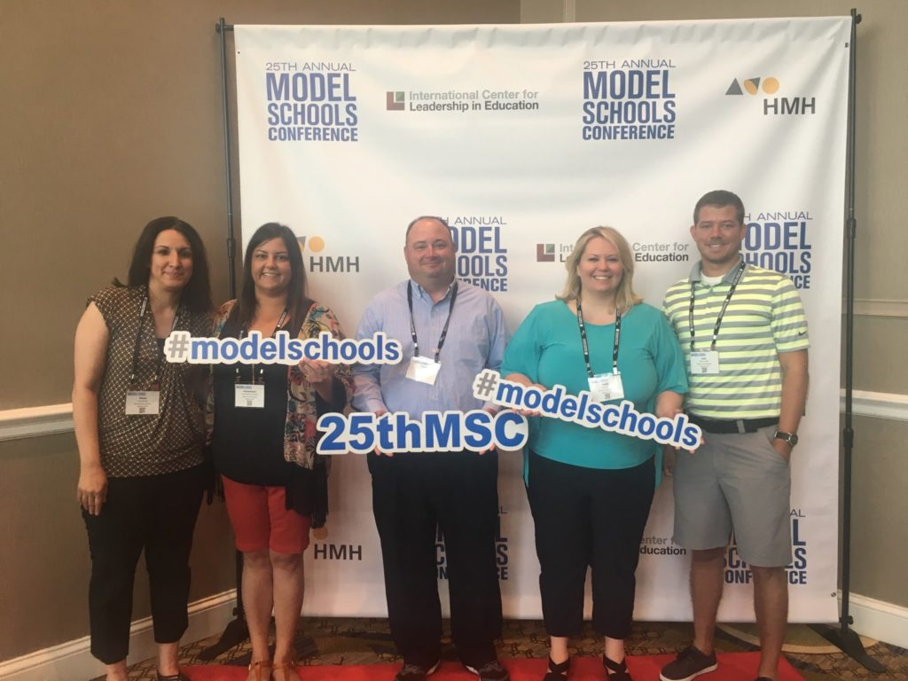 A photo of few of our administrators and faculty at the 2017 model schools conference