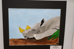 Colorful picture of Rhino