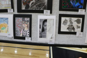 Picture of art show gallery wall