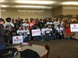 Helmet donation Cleveland Browns