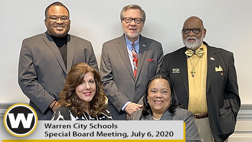 Warren City Schools Special Board Meeting, July 6, 2020